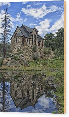 Chapel On The Rock Wood Print by Michael Krahl