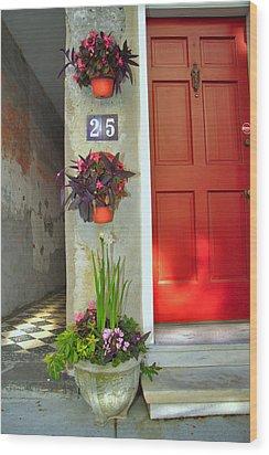 Charleston Home Series Wood Print by Wendy Mogul