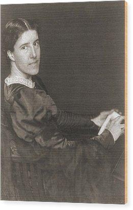 Charlote Perkins Gilman 1860-1935 Wood Print by Everett