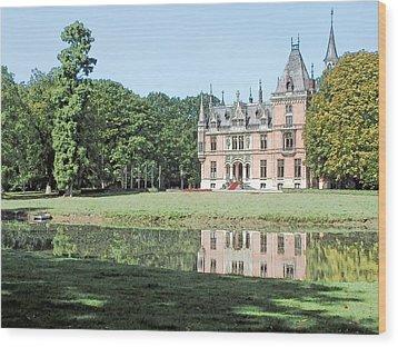 Chateau Aertrycke Torhout Belgium Wood Print by Joseph Hendrix