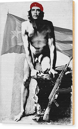Che Guevara Nude Wood Print