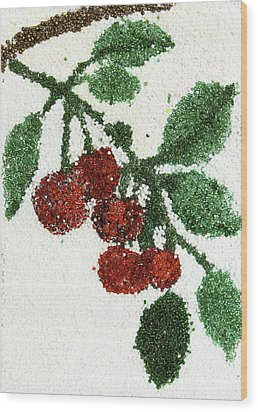 Cherry Wood Print by Natalya A