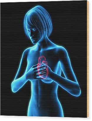 Chest Pains Wood Print by Roger Harris