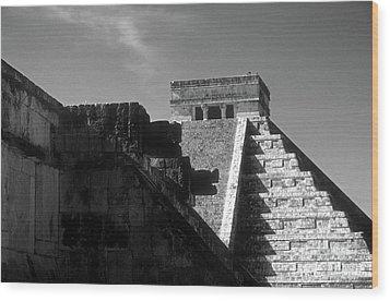Chichen Itza Ruins Yucatan Mexico Wood Print