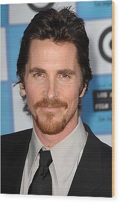 Christian Bale At Arrivals For 2009 Los Wood Print by Everett