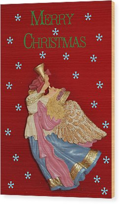Christmas Angel Wood Print by Aimee L Maher Photography and Art Visit ALMGallerydotcom