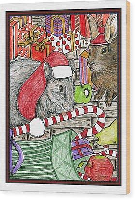 Christmas Treats Wood Print by Marla Saville