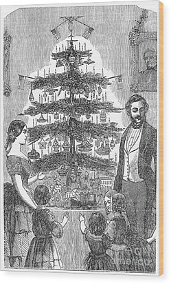 Christmas Tree, 1864 Wood Print by Granger