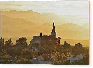Wood Print featuring the photograph Church At Dusk by Werner Lehmann