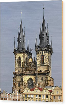 Church Of Our Lady Before Tyn - Prague Cz Wood Print by Christine Till
