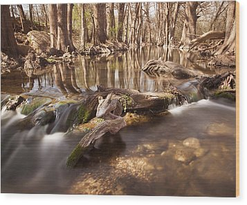 Cibolo Creek Wood Print by Paul Huchton
