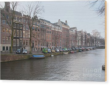 Wood Print featuring the digital art City Scenes From Amsterdam by Carol Ailles