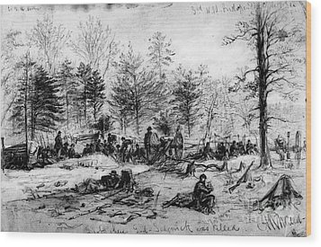 Civil War: Spotsylvania Wood Print by Granger
