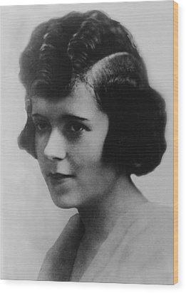 Clara Smith Hamon, Secretary And Lover Wood Print by Everett