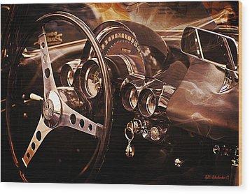 Classic Corvette Wood Print