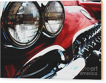 Wood Print featuring the digital art Classic Vette by Tony Cooper