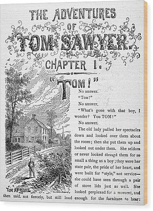 Clemens: Tom Sawyer Wood Print by Granger
