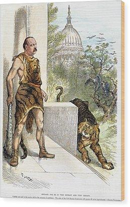 Cleveland Cartoon, 1884 Wood Print by Granger