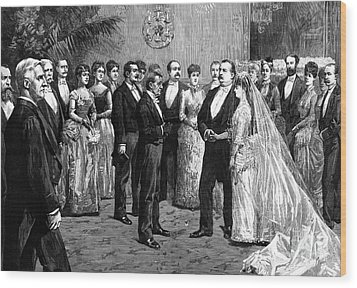 Cleveland Wedding, 1886 Wood Print by Granger