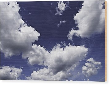 Wood Print featuring the photograph Clouds  by Paul Plaine
