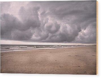 Coastal Storm Wood Print by Betsy Knapp