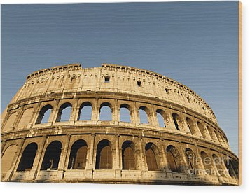 Coliseum. Rome Wood Print by Bernard Jaubert