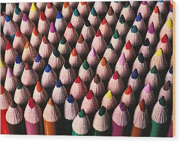 Colored Pencils Wood Print by Garry Gay
