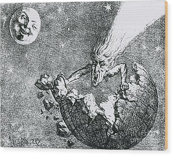 Comet Apocalypse, 1857 Wood Print by Science Source