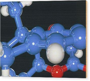 Computer Artwork Of Part Of A Molecule Wood Print by Laguna Design