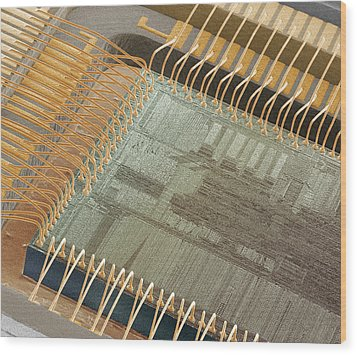 Computer Chip, Sem Wood Print by Power And Syred