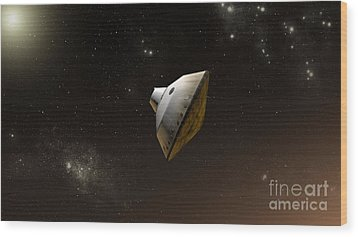Concept Of Nasas Mars Science Wood Print by Stocktrek Images