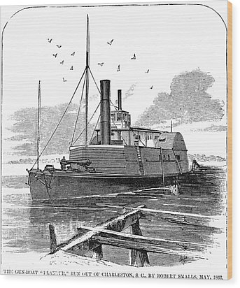 Confederate Ship, 1862 Wood Print by Granger