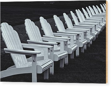 Wood Print featuring the photograph Congress Hall Chairs by Tom Singleton