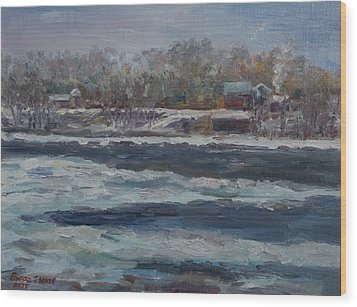 Connecticut River Thaw Wood Print