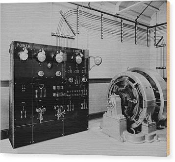Control Panel And Dynamo Generator Wood Print by Everett