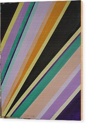 Converging Triangles Wood Print by Harris Gulko