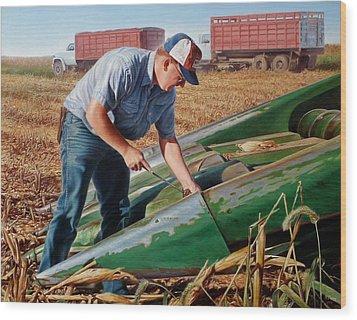 Corn Harvest Wood Print by Hans Droog