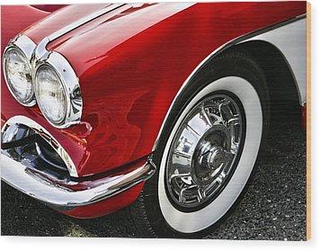 Corvette Beauty Wood Print by Bill Robinson
