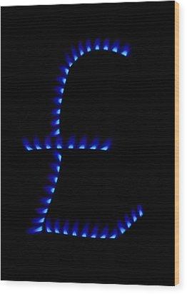 Cost Of Gas, Conceptual Image Wood Print by Victor De Schwanberg