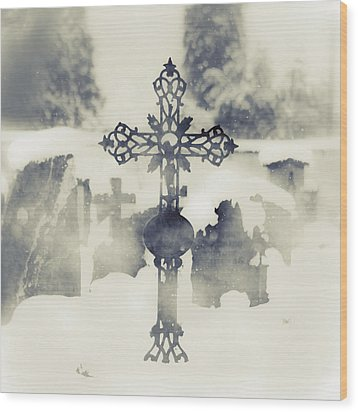 Cross Wood Print by Joana Kruse
