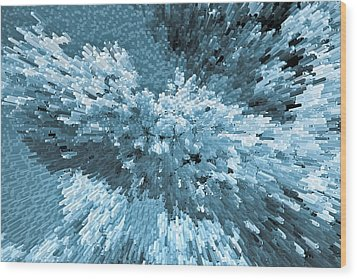 Crystal Flowers Wood Print by David Pyatt
