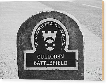 Culloden Moor Battlefield Site Highlands Scotland Wood Print by Joe Fox