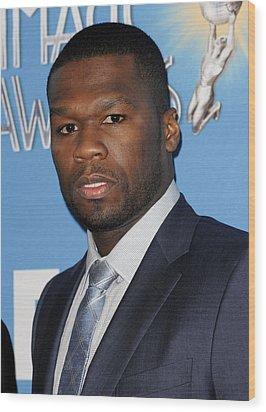 Curtis Jackson, Aka 50 Cent Wood Print by Everett