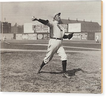 Cy Young (1867-1955) Wood Print by Granger