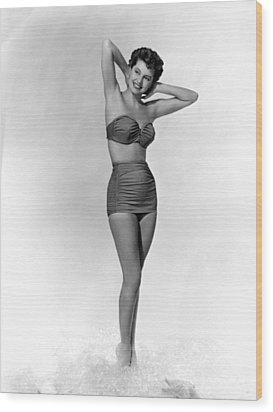Cyd Charisse, Ca. 1950s Wood Print by Everett