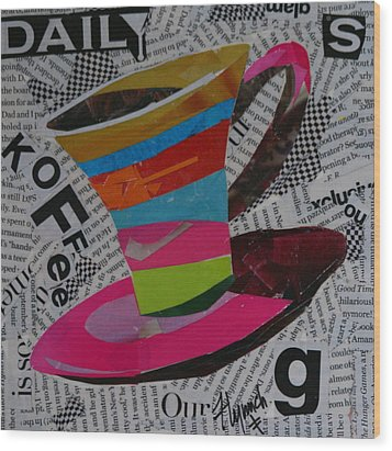 Daily Koffee  Wood Print by Lynn Chatman