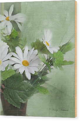 Wood Print featuring the photograph Daisies by Mary Timman