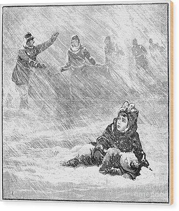 Dakota Blizzard, 1888 Wood Print by Granger