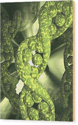Damaged Dna, Conceptual Artwork Wood Print by David Mack