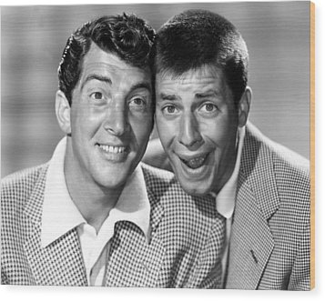 Dean Martin And Jerry Lewis, C. Early Wood Print by Everett